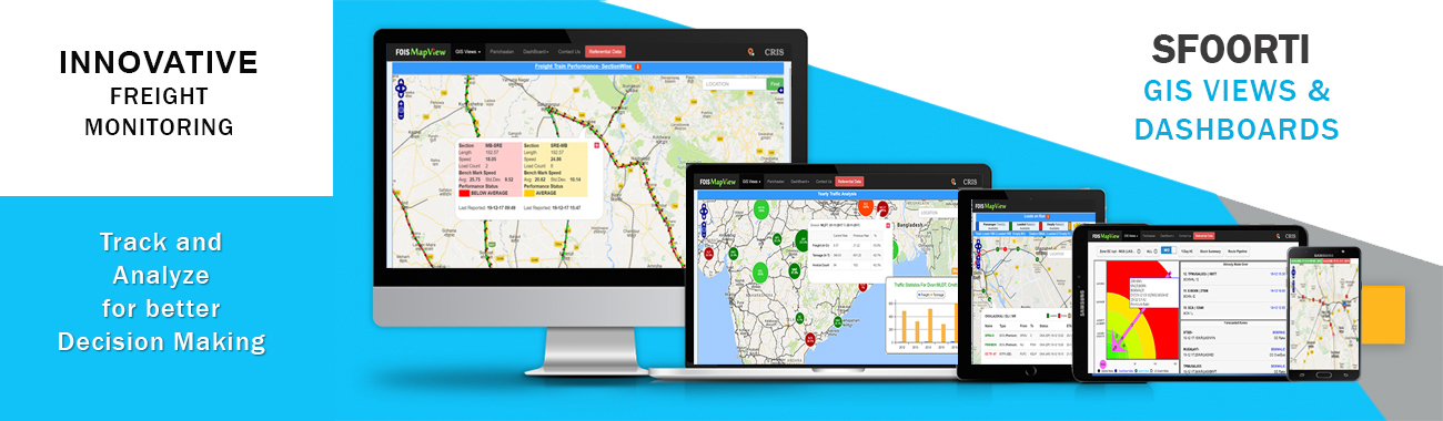 INNOVATIVE FREIGHT MONITORING- PARICHAALAN GIS VIEWS AND DASHBOARDS